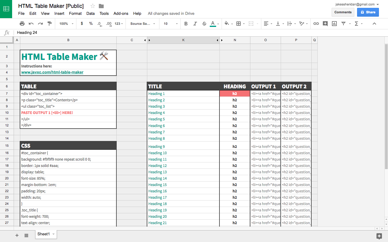 Build A Html Table Of Contents Generator Or Steal Mine